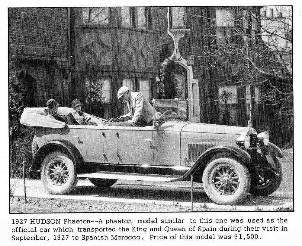 in a 1927 Hudson Phaeton.